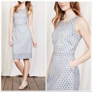 Boden Patricia Powder Blue/White Floral Dress